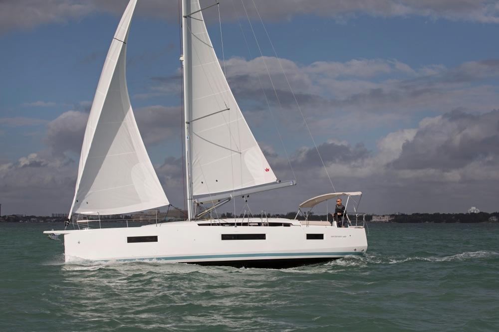 Jeanneau Sun Odyssey 440 sea trial, Miami FL.